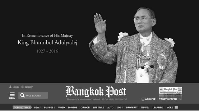 Screenshot «Bangkok Post».