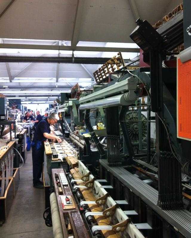 Die Produktionshalle der Firma vom Baur Industrietextilien in Wuppertal.