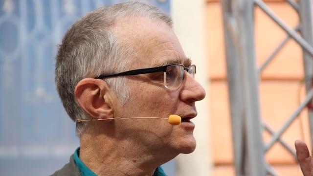 Porträtbild von Joachim Rittmeyer während der Sendung «Persönlich» in Bischofszell.