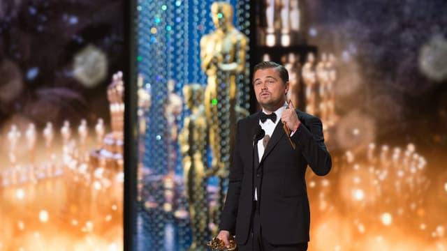 Leonardo DiCaprio hält bei den Oscars eine Dankesrede