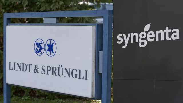 Logo da Lind&Sprüngli sper logo da Syngenta.