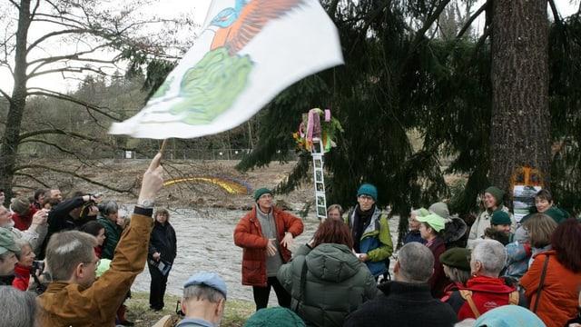 Martin Vosseler im März 2006 an einer Demonstration.