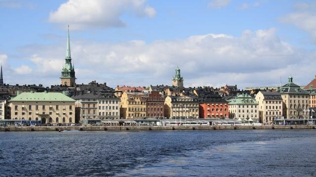 Venedig des Nordens: Blick auf das Zentrum von Stockholm mit seinen Wasserwegen.