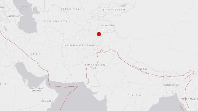 L'epicenter dal terratrembel sa chatta en il nordost da l'Afghanistan.
