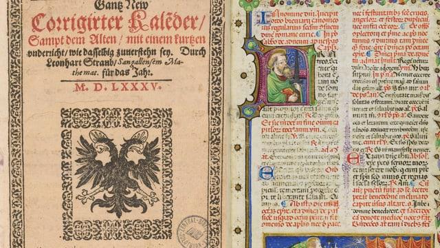 Alte Handschrift und Druck