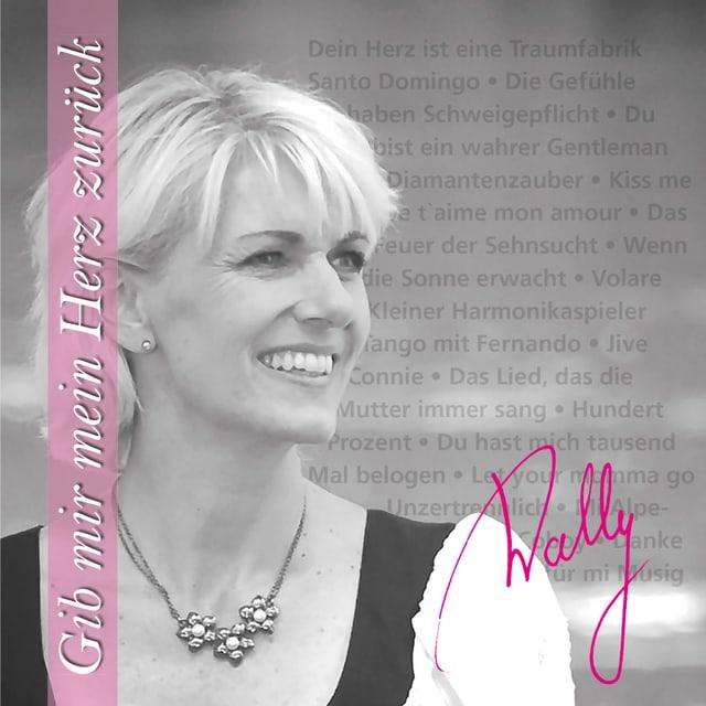 Schwarz-Weiss Fotografie mit rosarotem Schriftbalken und rosaroter Unterschrift.