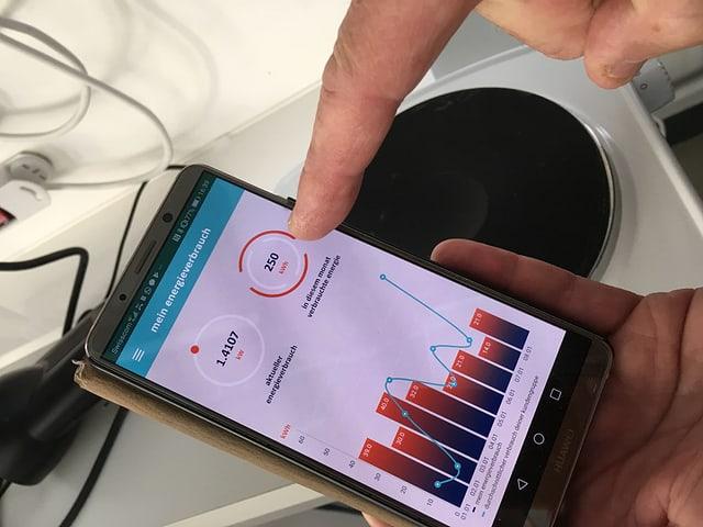 Smartphone zeigt die Aliunid-App