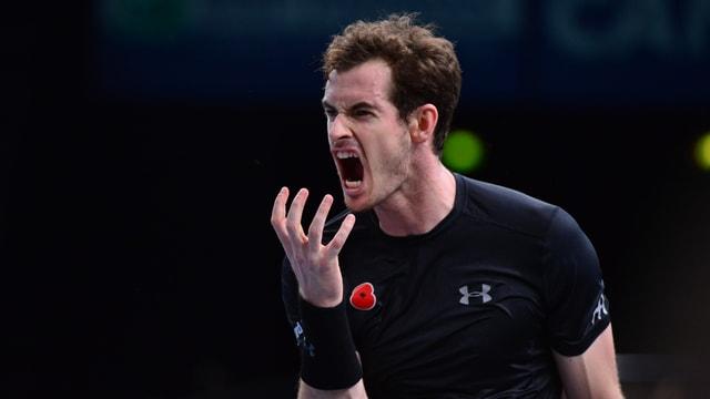 Andy Murray ärgert sich