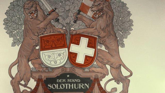 Wappen im Rathaus Solothurn