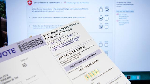 Documents per votar a moda electronica.