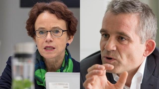 Basler Finanzdirektorin Eva Herzog und Nationalrat Beat Jans