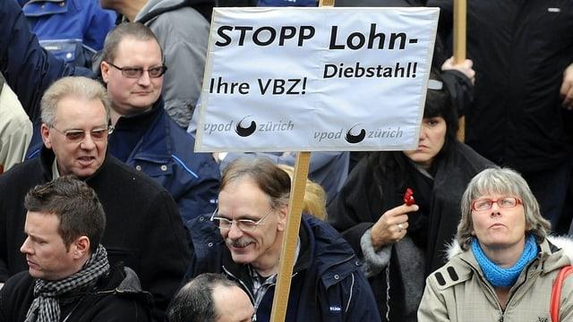VBZ-Personal streikt im Jahr 2011.