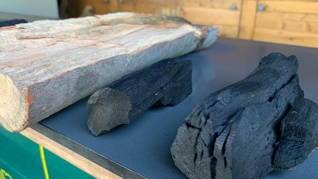 Holz und Kohle