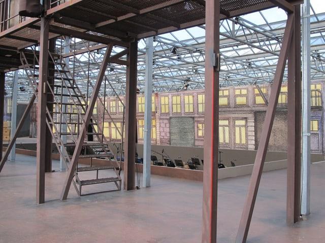Blick ins Innenleben der Giuseppe-Verdi-Arena im Gartenzenter