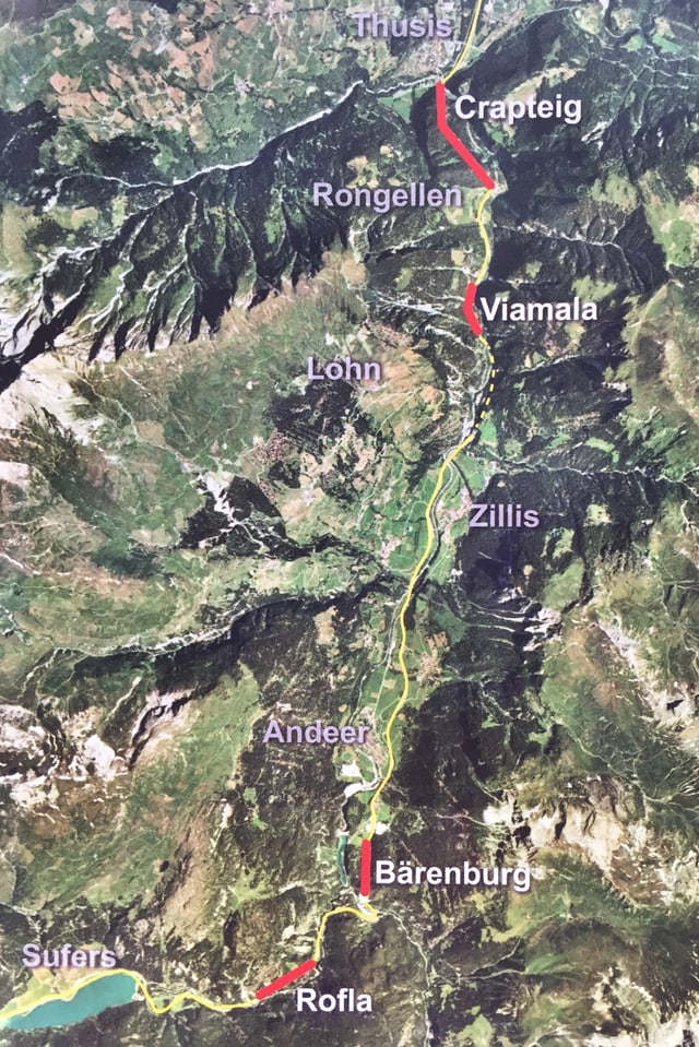 Dasperas il project dal tunnel Viamala vegnan realisads anc auters projects: Enfin il pli tard l'onn 2022 han era ils tunnels Crapteig, Bärenburg, Rofla tuts in agen tunnel da segirtad.