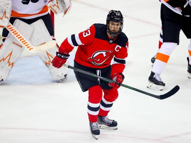 New-Jersey-Captain Nico Hischier.