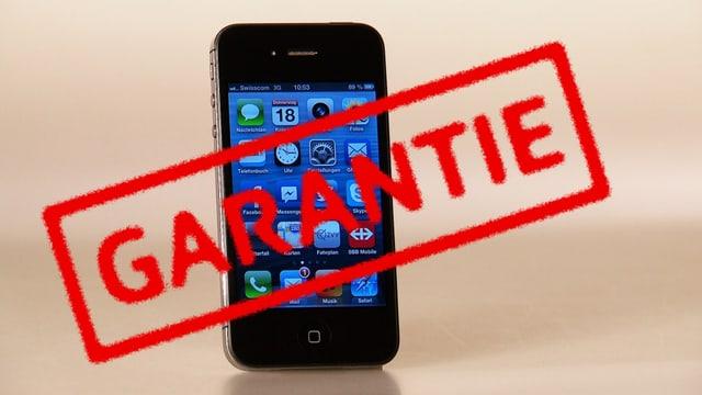 iphone mit Garantiestempel