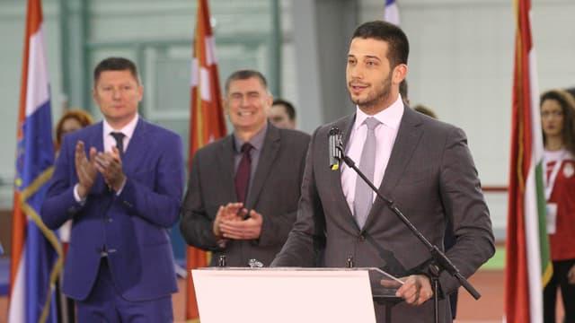 Der serbische Sportminister Vanja Udovicic.