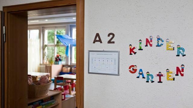 Blick in den Unterrichtsraum eines Kindergartens