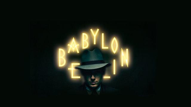 Schriftzug «Babylon Berlin» auf schwarzem Hintergrund