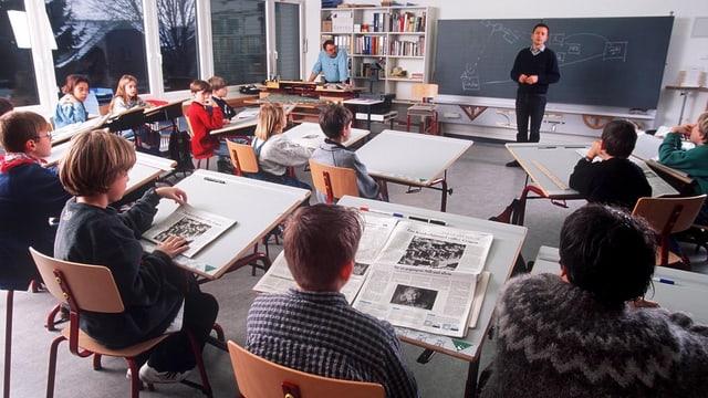 Schulklasse im Klassenzimmer