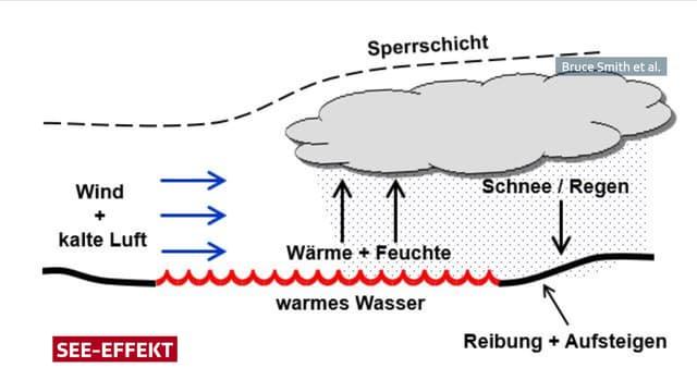 Schematische Darstellung der Funktionsweise vom See-Effekt.