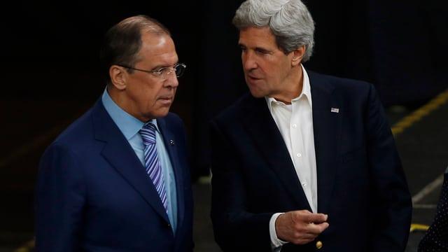 Die Aussenminister Russlands, Sergej Lawrow (l.), und der USA, John Kerry.