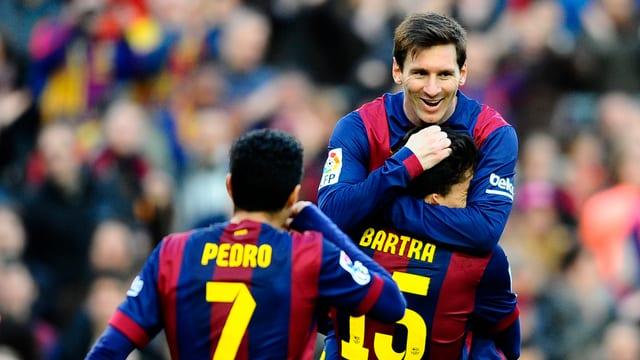 Lionel Messi feiert seinen 24. Hattrick in der Primera Divison.