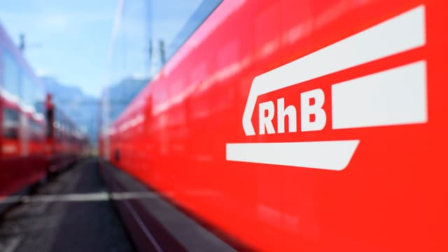 Ein Zug der Rhätischen Bahn.