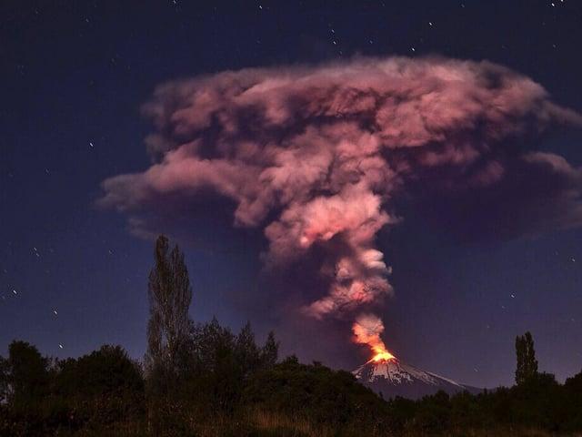 Der Vulkan Villarrica im Süden Chiles.