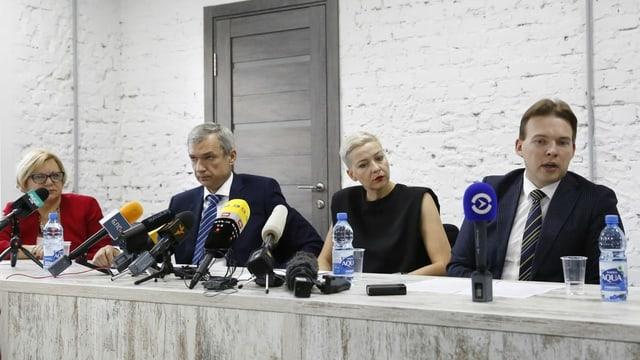 Pressekonferenz des belorussischen Koordinationsrats