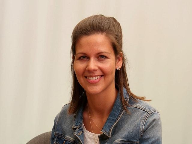 Melanie Oesch im Studio.