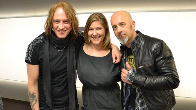 Sänger Nic Maeder (links) und Gitarrist Freddy Scherer im SRF 3 Studio.