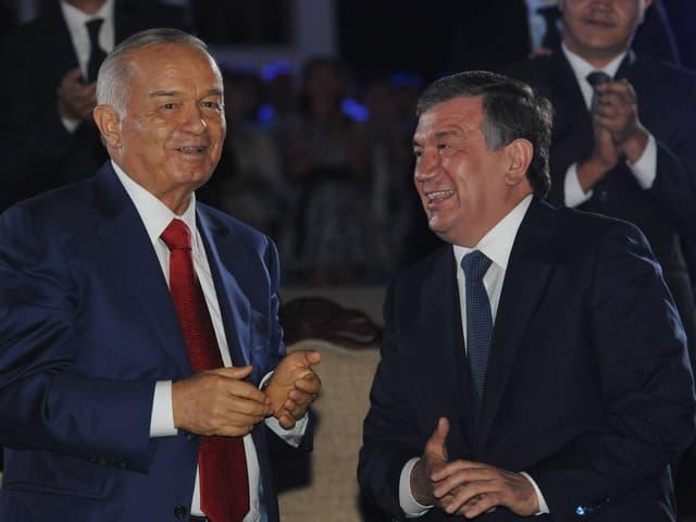 Karimov und Mirsijojew im Jahr 2014