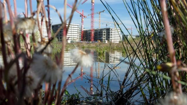 Bild der grossen Überbauung «Glattpark» in Opfikon, Zürich. (keystone)