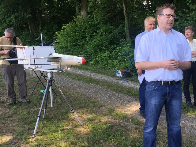Segelflugzeug zur Überwachung von Feldern.