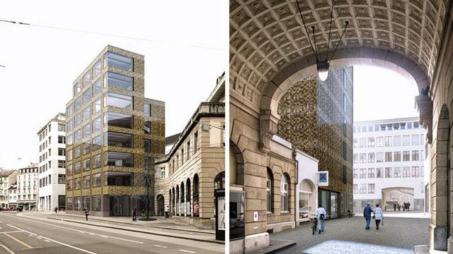 Modellaufnahmen des geplanten Gebäudes für das Amt für Umwelt und Energie in Basel