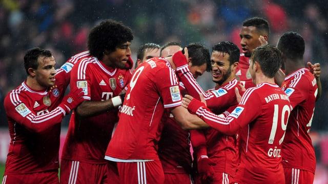 Jubelnd sah man die Bayern in dieser Saison häufig.