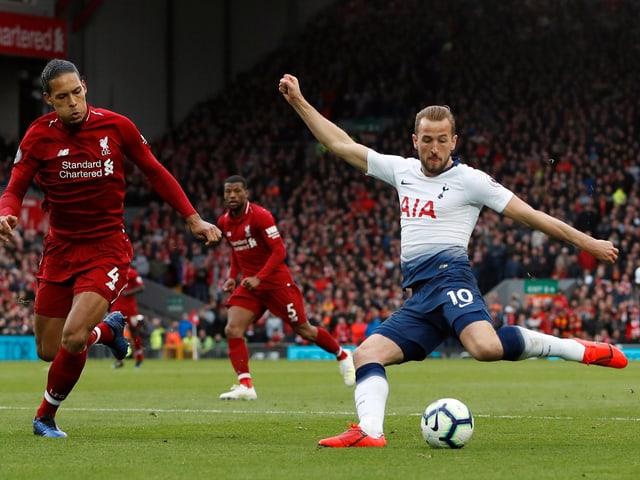 Liverpools Abwehrhüne Virgil van Dijk und Tottenhams Torschmaschine Harry Kane.