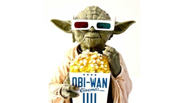 Yoda chillt im Kino