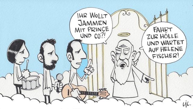 Hobbymusiker am Himmelstor...