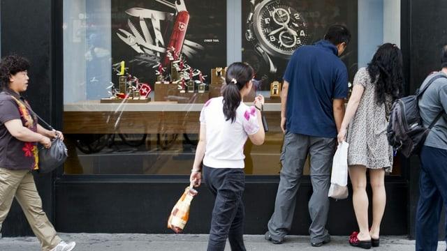 Bis vor kurzem ein sicherer Wert für die Schweizer Uhrenindustrie: Touristen aus China.