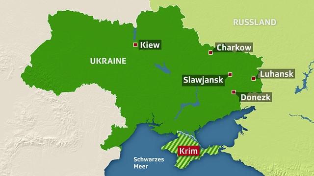 Ukraine-Karte