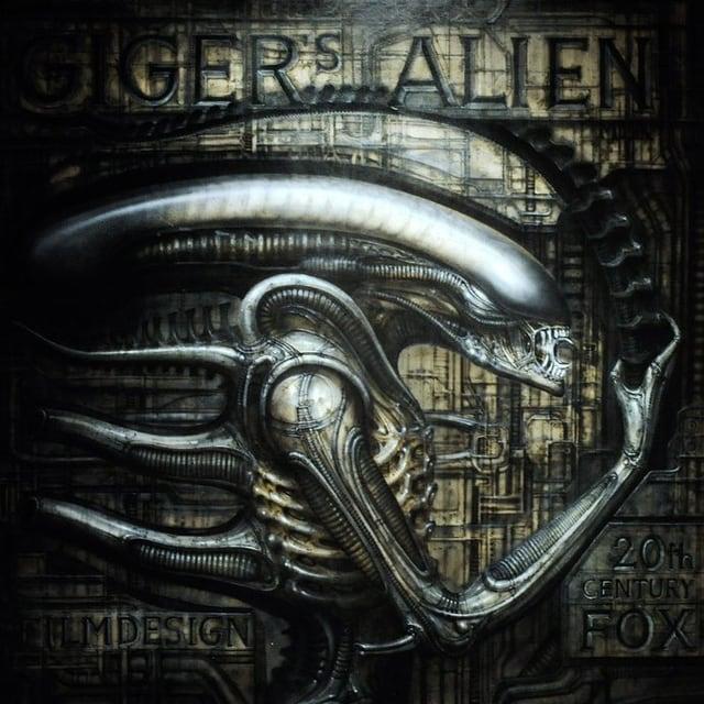 """Ein Bild des von H.R. Giger entworfenen """"Alien""""-Monsters"""