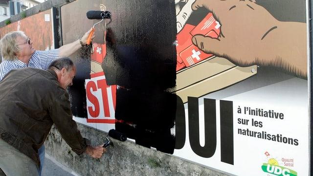 Protesaktion einer Bürgerrechtsbewegung im Waadtland.
