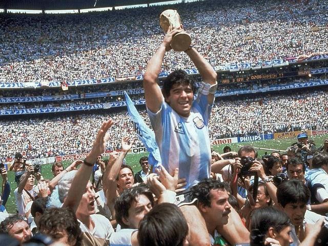 1986 wurde Maradona mit Argentinien Weltmeister.