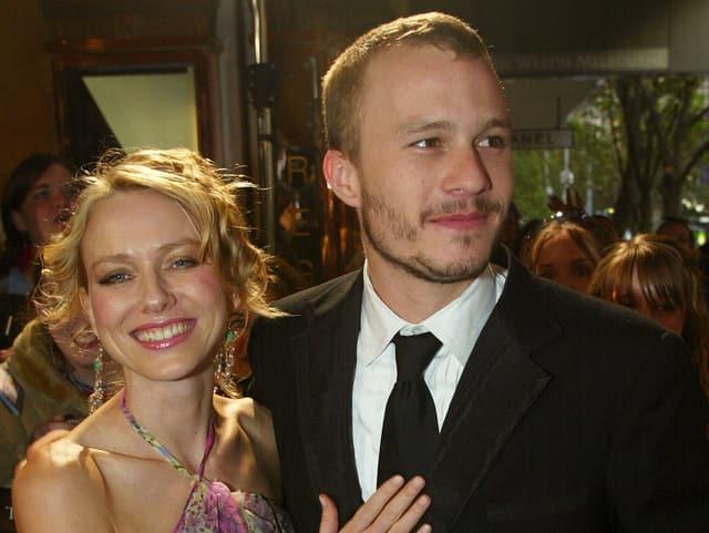 Naomi Watts mit dem mittlerweile verstorbenen Heath Ledger.