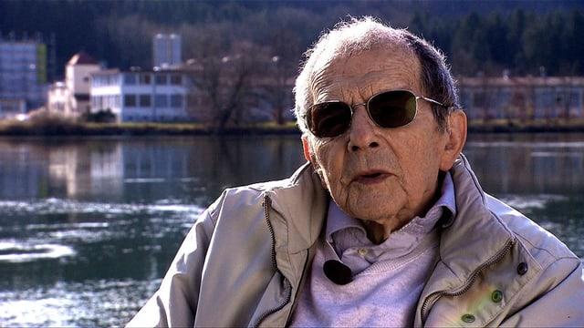 Lebensgefährliche Flucht: Der Deutsche Kurt Berneis ist 1943 bei Wallbach über den Rhein geschwommen.