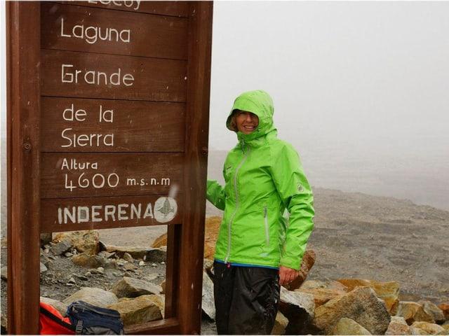 Ladina Spiess auf der «Sierra Nevada el cocuy» in Kolumbien.