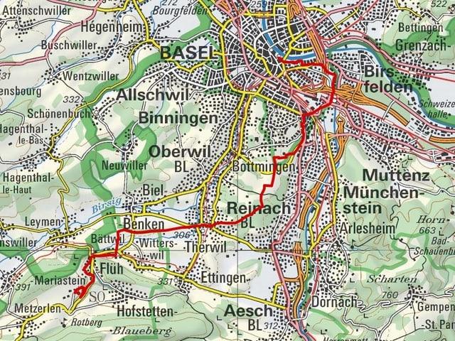 Etappe 1: Basel - Mariastein